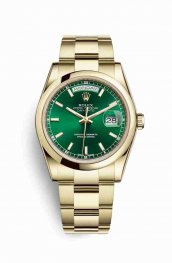 Rolex Day-Date 36 118208 Green Dial Watch Replica