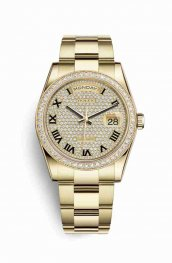 Rolex Day-Date 36 118348 Diamond-paved Dial Watch Replica