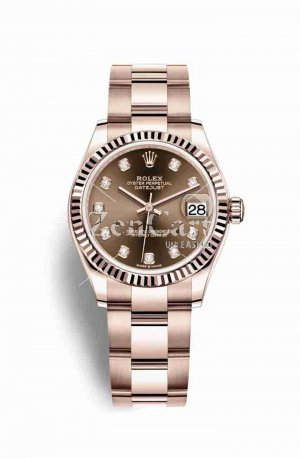 Rolex Datejust 31 Everose gold 278275 Chocolate diamonds Watch Replica
