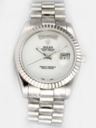 Rolex Day Date White Dial Men's Watch Rl8149