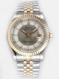 Rolex DATEJUST Grey Dial With White Bar Hour Mar