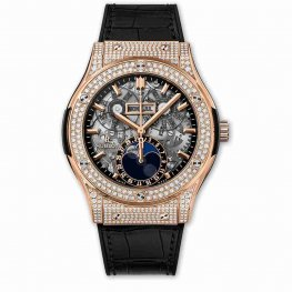Hublot Classic Fusion Aerofusion Moonphase King Gold Pavé 517.OX.0180.LR.1704 45mm Replica