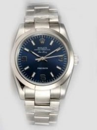 Rolex Oyster Perpetual Air King Blue Dial With W