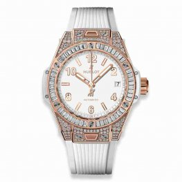 Hublot Big Bang One Click King Gold White Jewellery 465.OE.2080.RW.0904 39mm Replica Watch