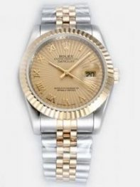 Rolex DATEJUST Amber Dial With Roman Hour Marker