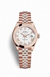 Rolex Datejust 28 Everose gold 279165 White Dial Watch Replica