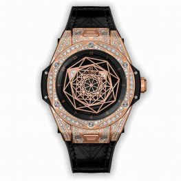 Hublot Big Bang One Click Sang Bleu King Gold Pavé 465.OS.1118.VR.1704.MXM18 39mm Replica