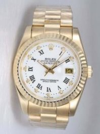 Rolex DATEJUST White Dial With Roman Hour Marke