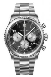 Breitling Navitimer 8 B01 Black Dial and Steel Bracelet AB0117131B1A1 Replica Watch