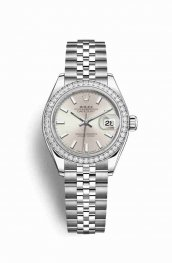 Rolex Datejust 28 White gold 279384RBR Silver Dial Watch Replica