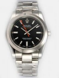 Rolex Sports Models Milgauss SS Black Dial Bar H