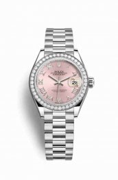 Rolex Datejust 28 Platinum 279136RBR Pink Dial Watch Replica