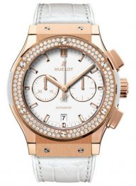 ClassiC Fusion WHite Dial 18 Carat Rose Gold with Diamon
