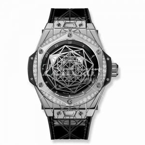 Hublot Big Bang Sang Bleu Steel Diamonds 465.SS.1117.VR.1204.MXM17 39mm Replica
