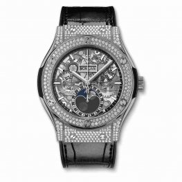 Hublot Clasic Fusion Aerofusion Moonphase Titanium Pavé 517.NX.0170.LR.1704 45mm Replica