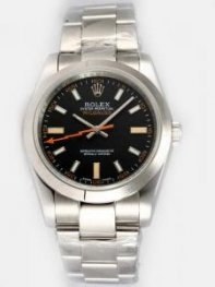 Rolex Milgauss Black Dial Arabic And Bar Hour M