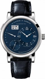 A. Lange & Sohne 191.028 Lange 1 White Gold/Blue Replica Watch