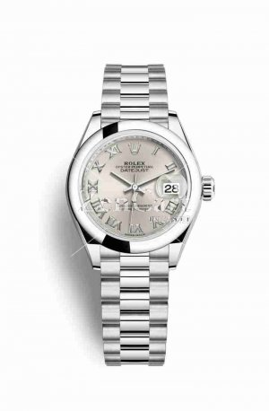 Rolex Datejust 28 Platinum 279166 Silver Dial Watch Replica