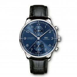 IWC Portugieser Automatic Chronograph Blue Dial Mens IW371491 Replica