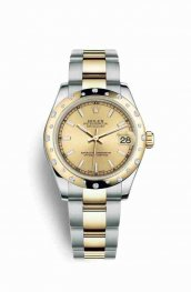 Rolex Datejust 31 Yellow 178343 Champagne Dial Watch Replica