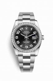 Rolex Datejust 36 White gold 116244 Black Dial Watch Replica