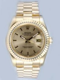Rolex DATEJUST Daffodil Yellow Dial With Bar Hou