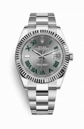 Rolex Datejust 41 White gold 126334 Slate Dial Watch Replica