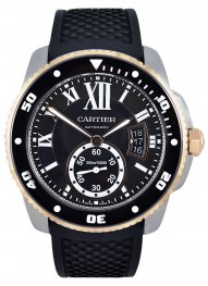 Calibre de Cartier Diver 42mm Pink Gold And Steel W71000