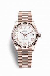 Rolex Datejust 31 Everose gold 278275 White Dial Watch Replica