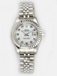Rolex DATEJUST White Dial With Azury CZ Diamond