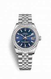 Rolex Datejust 31 White gold 178384 Blue Dial Watch Replica