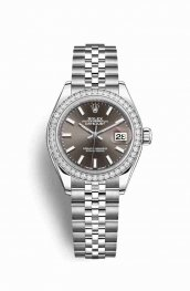 Rolex Datejust 28 White gold 279384RBR Dark grey Dial Watch Replica