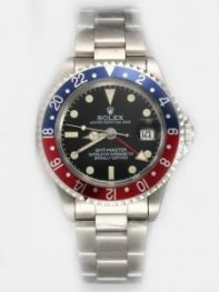 Rolex GMT-MASTER Black Dail 24 Hour Blue And Red