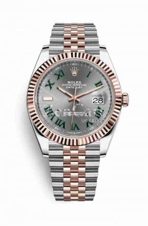 Rolex Datejust 41 Everose gold 126331 Slate Dial Watch Replica