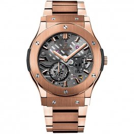 Hublot Classic Fusion Classico Ultra-thin Skeleton King Gold 545.OX.0180.OX Watch Replica
