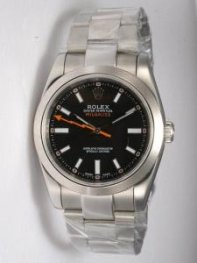 Rolex Milgauss Black Dial Shaped White Hour Mark