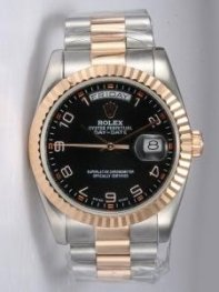 Rolex Day Date Black Dial With Arabic Hour Marke