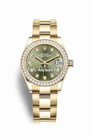 Rolex Datejust 31 278288RBR Olive green diamonds Watch Replica