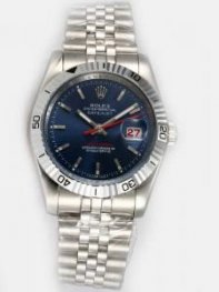Rolex DATEJUST Cobalt Blue Dial With Bar Hour M
