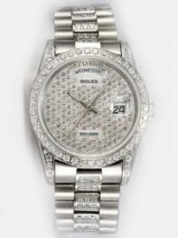 Rolex Day Date Iced Silver Dial Watch Rl6731