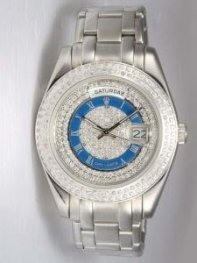 Rolex Day Date Iced White Dial With Blue Ring Ro