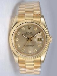 Rolex DATEJUST Browm Dial With CZ Diamond Hour M
