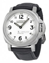 Panerai Luminor Base 8 Days Acciaio Mechanical White Dia
