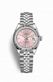 Rolex Datejust 28 White gold 279174 Pink Dial Watch Replica
