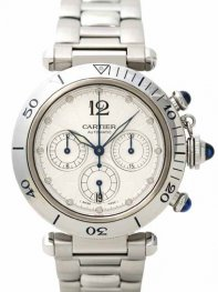 Cartier Pasha 38mm Chronograph W31030H3 Watch