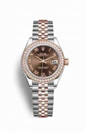 Rolex Datejust 28 Everose gold 279381RBR Chocolate Dial Watch Replica
