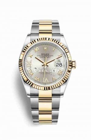 Rolex Datejust 36 Yellow 126233 Silver diamonds Watch Replica