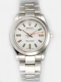 Rolex Milgauss White Dial Arabic And Yellow Bar