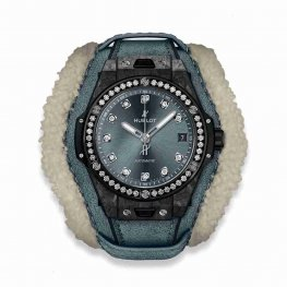 Hublot Big Bang One Click Frosted Carbon Diamonds 465.QK.7170.VR.1204.ALP18 39mm Replica Watch