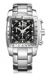 Chopard Two O Ten Automatic Chronograph Black Dial Steel Ladies